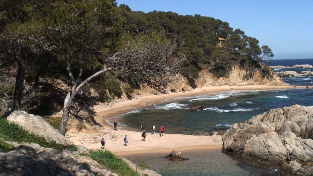 Badebucht an der Costa Brava in Spanien
