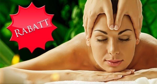 Rabattaktion Bild - Frau erhält Massage